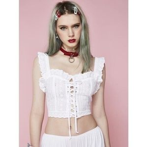 New Pure Innocence Eyelet Crop Top